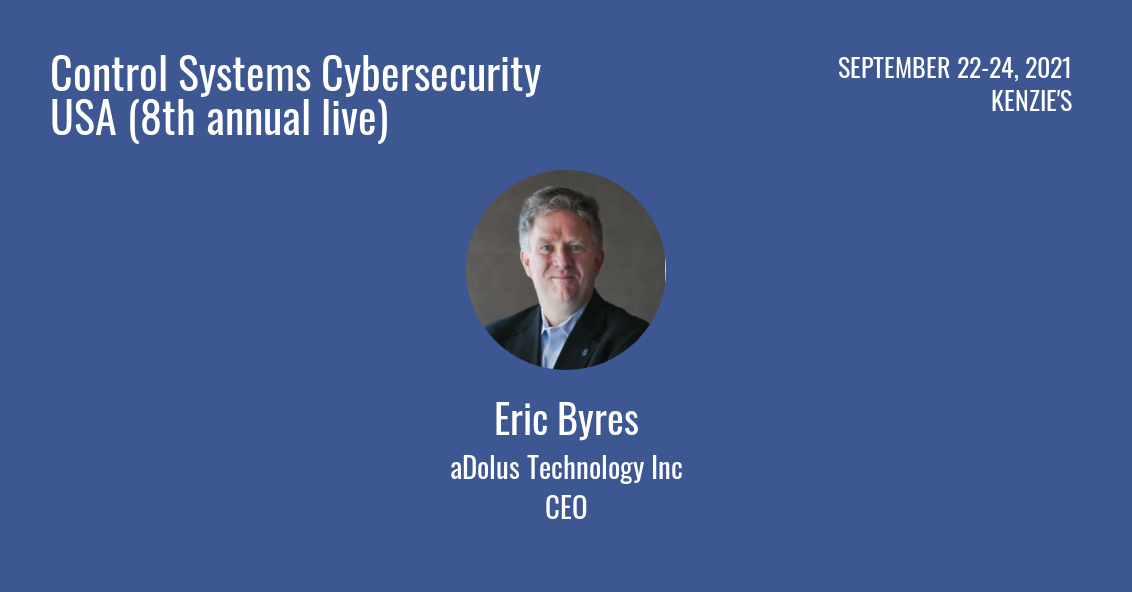 Cyber Senate Eric Byres Control Systems Cybersecurity USA